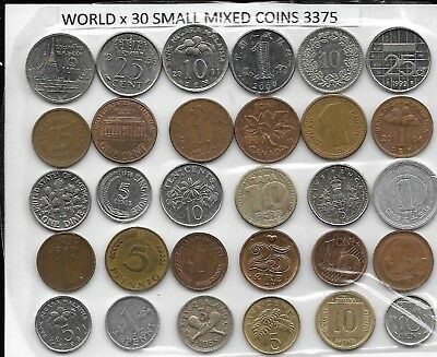 WORLD x 30 Mixed Small Coins