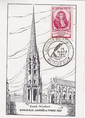France 1947 Fdc Day Of The Stamp Louvois Bordeaux Yt 779