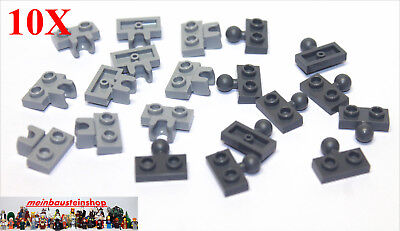 LEGO // 20 New Towball Hinge Plate Sets 1x2 2x3 connected # 14704 # 14417