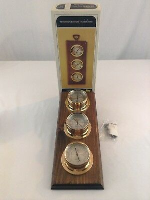 Vintage New Old Stock Springfield Weather Station Temperature Barometer Decor