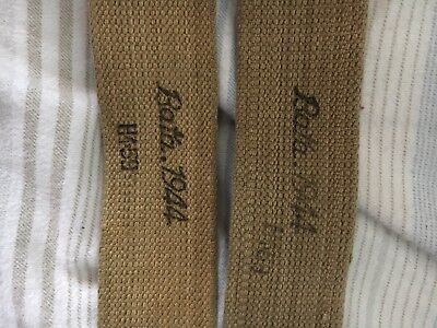 WW2 WWII British P-37 Webbing Shoulder Straps Pair (Bata 1944)