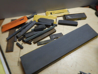 Pile Of Older Norton And Other Sharpening Stones