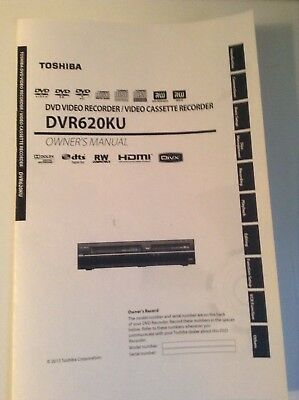Toshiba DVR-620KU DVD/VCR Recorder Combo Owner Manual operating booklet