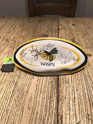 Official Autographed Wasps Rugby Ball 17-18 Squad