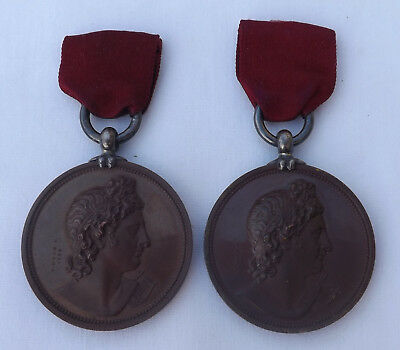 Victorian Royal Academy Of Music Bronze Medal / Medals By B. Wyon F.
