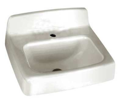 AMERICAN STANDARD 4867001.020 Bathroom Sink,Enameld Cast Iron,17 In. L