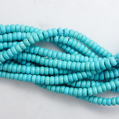 Wholesale Blue Turquoise Gemstone Spacer Loose Beads Charm Findings 15'' ZK10