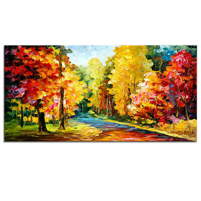 Modern Wall Art Colorful Trees Oil Painting Canvas Print Art for Home Wall Decor