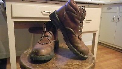 Womens Ariat Leather Ankle Corral Work Boots / 8.5 / Very Good Condition