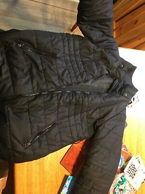 Oh Baby Motherhood Maternity Black Puffer Coat Medium