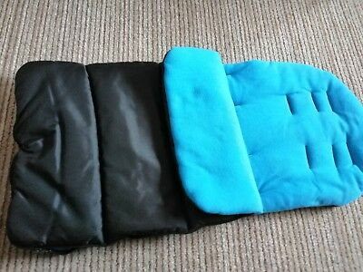 Brand new black and blue cosy toes unbranded fits most pushchairs.