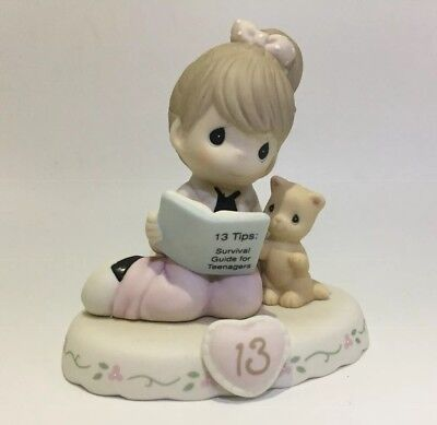 Precious Moments Growing In Grace Age 13 Brunette 162012B NIB Porcelain Statue