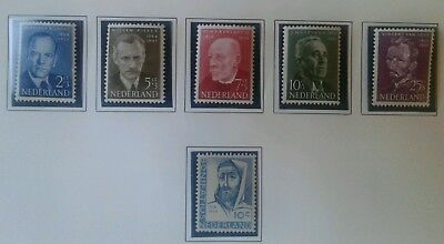 Netherlands stamps 1954 summer series MH