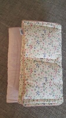 millie and boris cot bumper 8 individual bumpers pink stripes and floral
