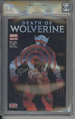 Death Of Wolverine #1 1St Print 2014 Cgc Signature Series Ponsor 9.8 White Pages