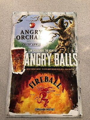 Angry Orchard Fireball Whisky Bar Man Cave Sign Metal