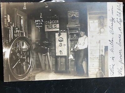 Postcard Fairbanks Morse Model T Electric Lighting Gas Engine Old Hit Miss Farm