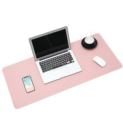 """Office Large Leather 35.4"""" x 18"""" Smooth Blotter Protector Extended Non-Slip pink"""