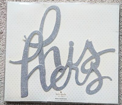 Kate Spade His Hers Bridal Chair Signs Wedding Decor Silver