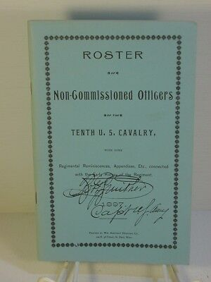 """Roster of Non-Commissioned Officers of the Tenth U.S. Cavalry """"Buffalo Soldiers"""""""