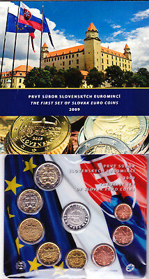 Kursmünzensatz  Slowakei 2009 The First Set of Euro Coins