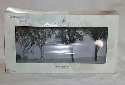 Dept. 56 Seasons Bay Spring Summer Trees 53382 Collectible Village Accessories