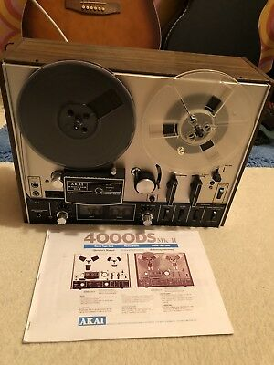 AKAI 4000DS REEL TO REEL TAPE RECORDER - Fully tested and serviced