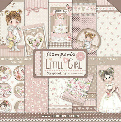 Stamperia Baby Girl 12 x 12 Paper Pack  Scrapbook Papers