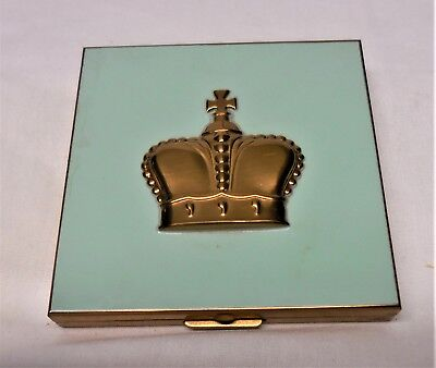 Vintage Prince Matchabelli Compact Rouge 1930's Blue Enameled Compact ~ Shown