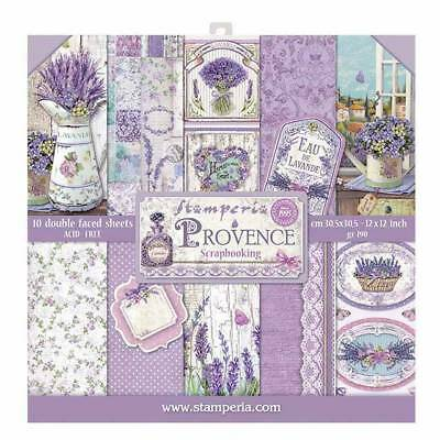 Stamperia Provence 12 x 12 Paper Pack  Scrapbook Papers