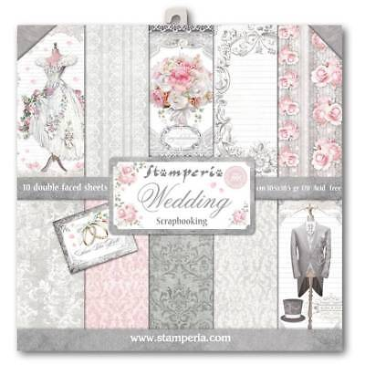 Stamperia Wedding 12 x 12 Paper Pack  Scrapbook Papers