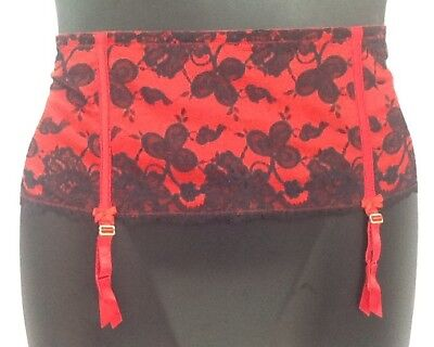 27e6056c695 Hip Slip Sexy Cacique Garter Belt Lane Bryant Lace Boning RED BLACK Lingerie