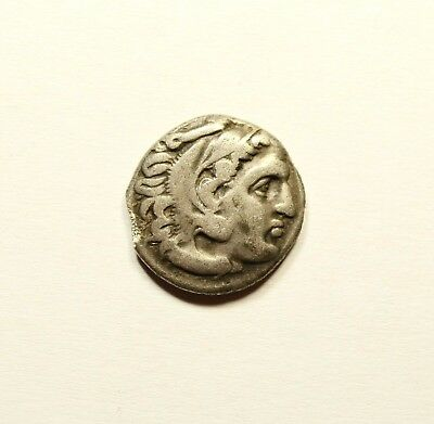Alexander III the Great 336-323 BC.Silver Drachm Ancient Greek Coin