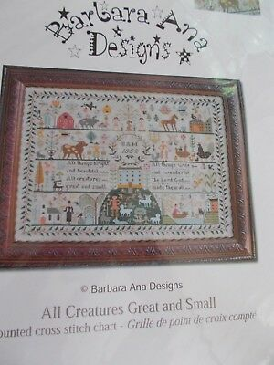 Barbara Ana All Creatures Great & Small Pattern Adam Eve Nature Animals Birds