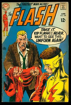 The Flash #189 Vg+ (Tanning/foxing)