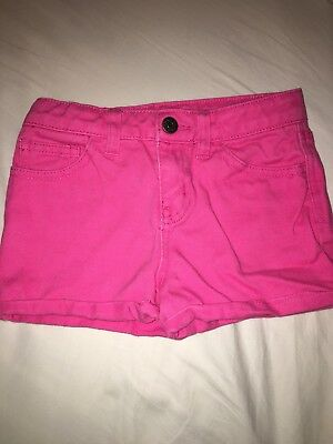 Cherokee Hot Pink Jean Denim Shorts Girls Size Small 6/6X