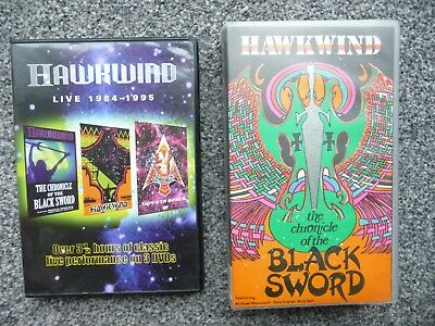 Hawkwind - Live 1984-1995 (DVD, 2006) & Chronicle of the Black Sword (Video)