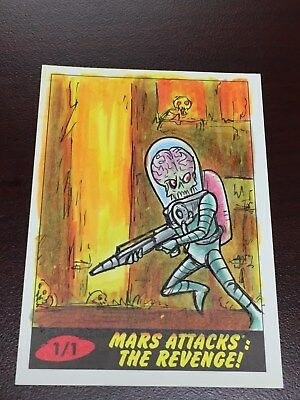 Mars Attacks The Revenge Eric Kowalick Sketch Card