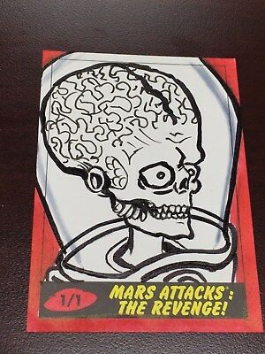 Mars Attacks The Revenge Jennifer Allyn Sketch Card