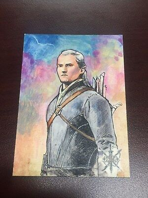 Hobbit Battle of Five Armies Fabian Quintero Sketch Card