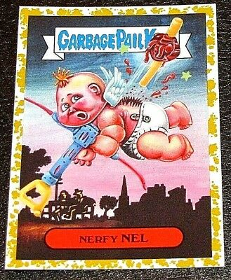 2019 GARBAGE PAIL KIDS ~ WE HATE THE 90's ~ FOOL'S GOLD NERFY NEL #'d 32/50