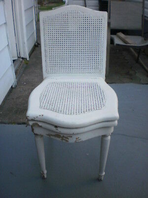 Antique Wood and Cane Potty Chair Adult Size