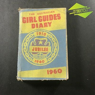 Vintage 1960 Australian Girl Guides Jubilee 1910 - 1960 Diary Notebook