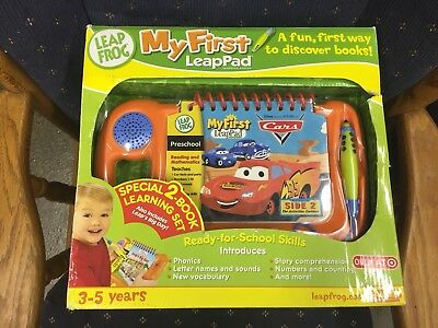 2001 Leap Frog #20006 My First Leap Pad Learning System Cars Book & Cartridge
