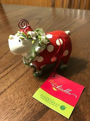 Merry Bulldog Christmas Krinkles Ornament by Patience Brewster