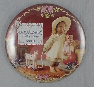 """3"""" Vintage Button Pin Miss Martha's Collection By Enesco"""