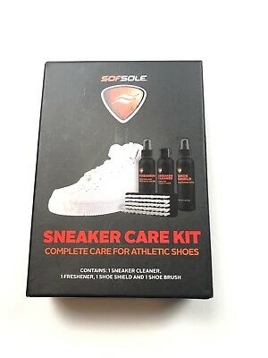 Sofsole Athletic Sneaker Care Kit Cleaner Shoes Freshener Shoes Brush New in Box