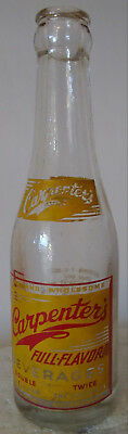 Carpenter's Full Flavor Beverages Orange Bottling Co. Orange, Va Soda Bottle