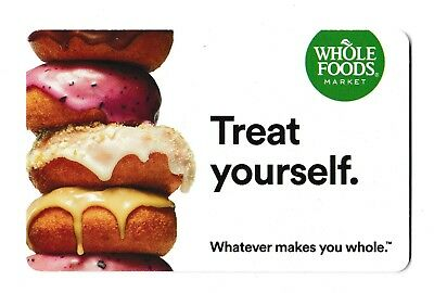 Whole Foods collectible gift card no value mint #012 Treat Yourself
