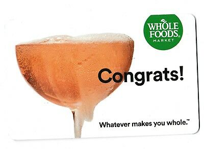 Whole Foods collectible gift card no value mint #013 Congrats